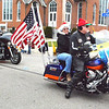 Debbie Blank | The Herald-Tribune<br /> Flags mark the presence of Indiana Patriot Guard riders.