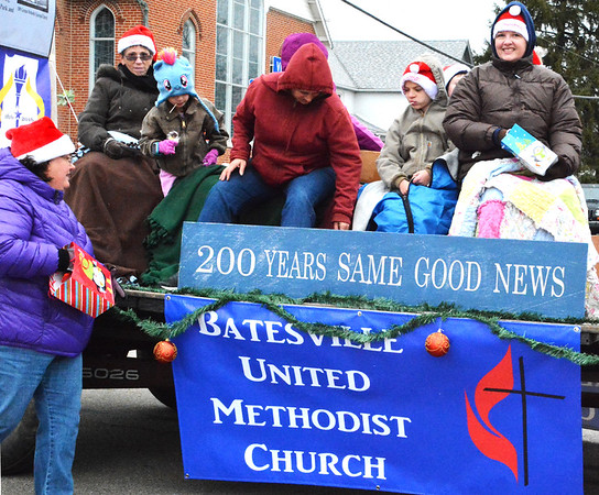 Debbie Blank | The Herald-Tribune<br /> Batesville United Methodist Church members decorated one of many floats.
