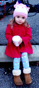 Diane Raver | The Herald-Tribune Lily Kendall, 2, really enjoyed her hot chocolate.