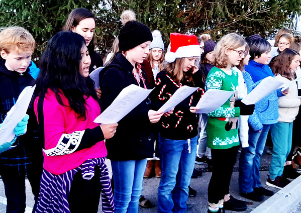 "Choir members from the Batesville public schools sang several Christmas tunes including ""Holly Jolly Christmas."""