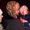 One little boy watches Santa arrive in Batesville in a firetruck at the procession's conclusion.
