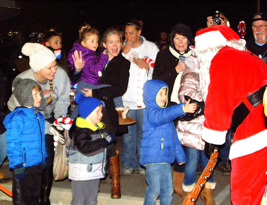 Children of all ages were happy to see Santa.