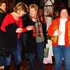 Debbie Blank | The Herald-Tribune<br /> Angie Johnson (from left), Amy Mehlon, Marilyn Manlove and Tress Zielinski wait to hear who won punch card and door prizes.