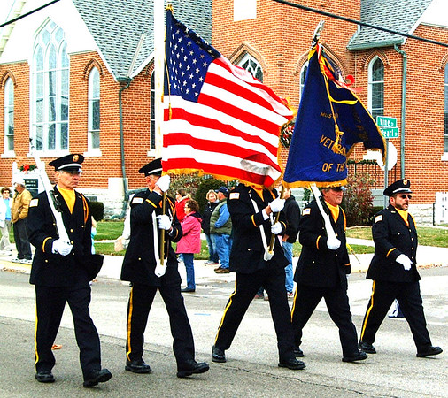 Debbie Blank | The Herald-Tribune<br /> The Bateville Veterans of Foreign Wars Post 3183 color guard begins the Batesville Area Chamber of Commerce Holiday Parade Nov. 22 at 1 p.m.