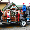 Diane Raver | The Herald-Tribune<br /> In addition to this parade float, the Mayor's Youth Council donated a new workshop for Santa.