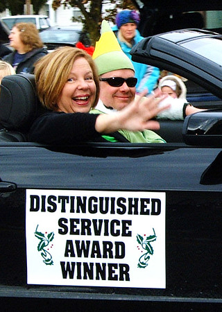 Debbie Blank | The Herald-Tribune<br /> Jane Yorn, 2014 Batesville Area Chamber of Commerce Distinguished Service Award winner, served as one of the parade's grand marshals.