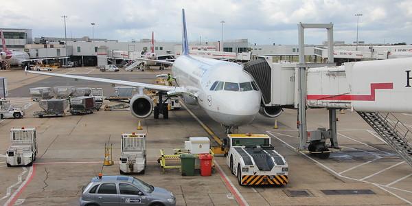 Luthansa A321 D-AISF at Heathrow Terminal 1, Stand 119