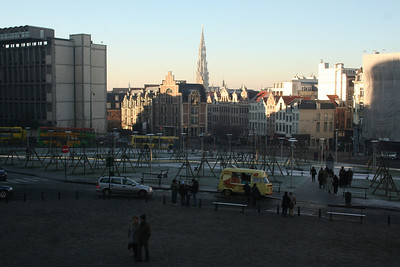 Park in front of the Cathedral of St. Michael and St. Gudula