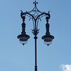 Silhouette of a street lamp