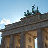 Backlit brandenburg gate
