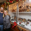 Christmas lights display at the home of Eddie and Cindy Lossman on Biscayne Drive in Billerica. This is a village modelled after a New Hampshire ski town, built into a case they put over their kitchen window. (SUN/Julia Malakie)