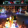 Christmas lights display at the home of Eddie and Cindy Lossman on Biscayne Drive in Billerica. This year they're fundraising for the family of family friend Tim Oliveri of  Billerica, diagnosed with pancreatic cancer this year at age 48 and now in hospice care. (SUN/Julia Malakie)