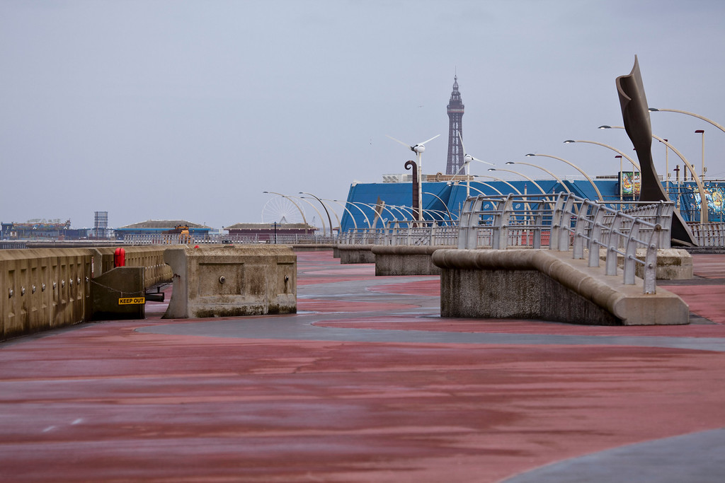 view along the new south prom