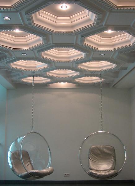 De lobby van hotel Bloom in Brussel, leuk!
