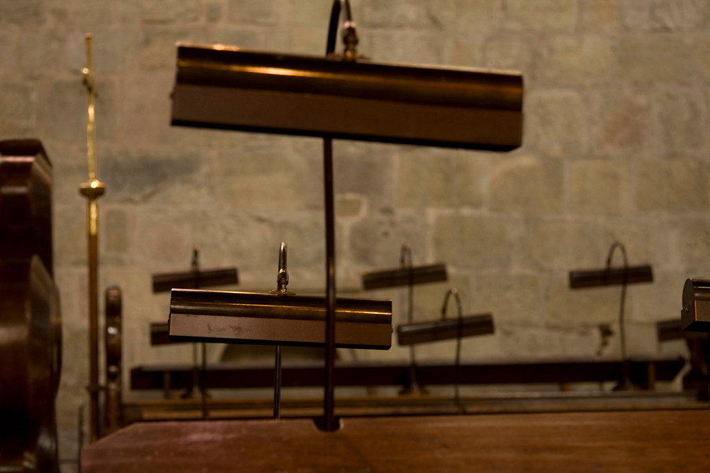 choir bench lights