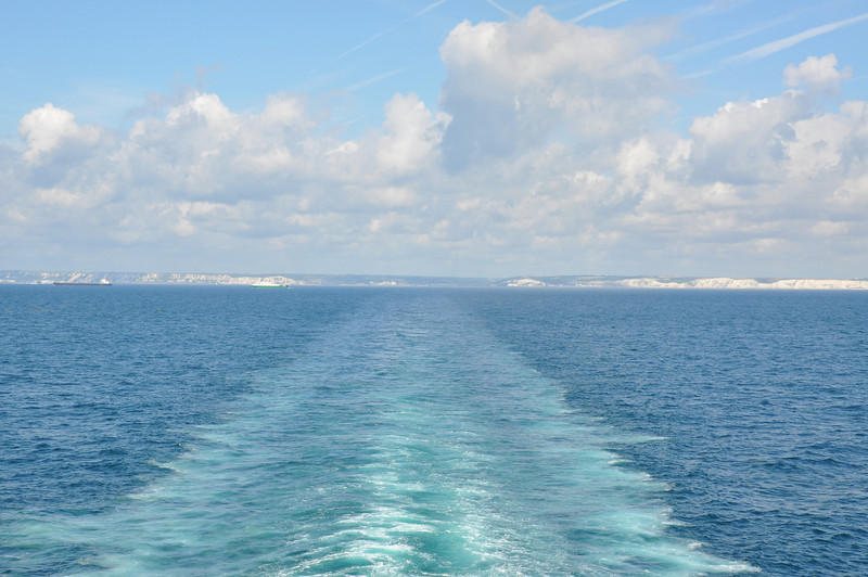 Goodbye to the white cliffs of Dover