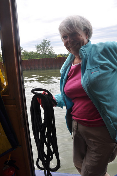 And how will we cope in the big Soane locks with just the two of us onboard?
