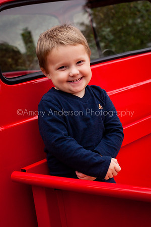 Boston in the Big Red Truck