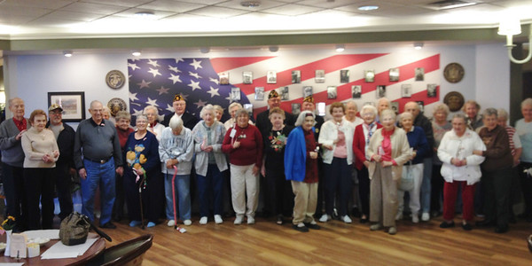 Walnut Woods of Boyertown held a ceremony to honor veterans on Saturday, Nov. 9.
