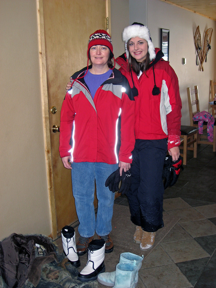 Dec 21.  Susan and Amy Jo ready to go outside.
