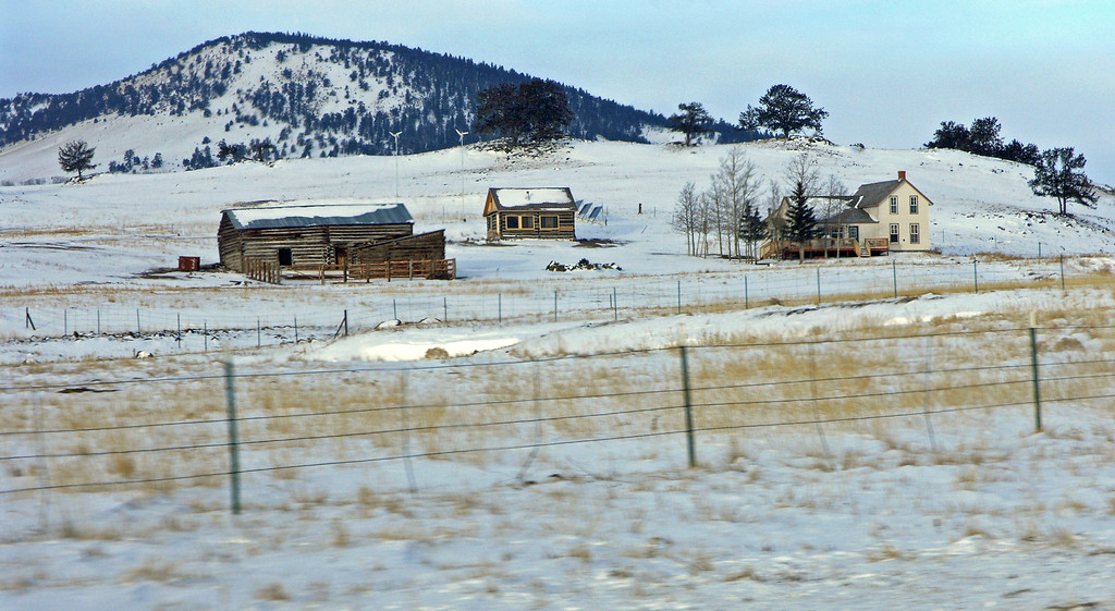 Dec 20.  Near Fairplay, Colorado, we passed this homestead.