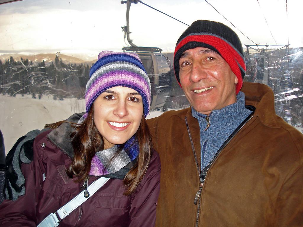 Dec 25.  Shirene and Asghar on the gondola.