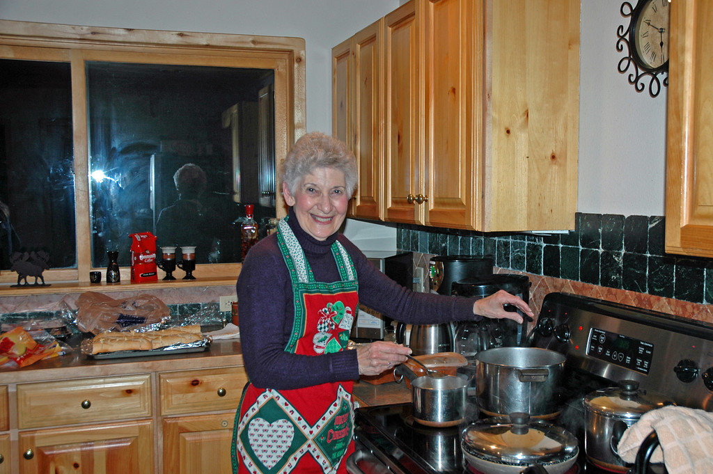 Dec 21.  Granmommie prepares supper.