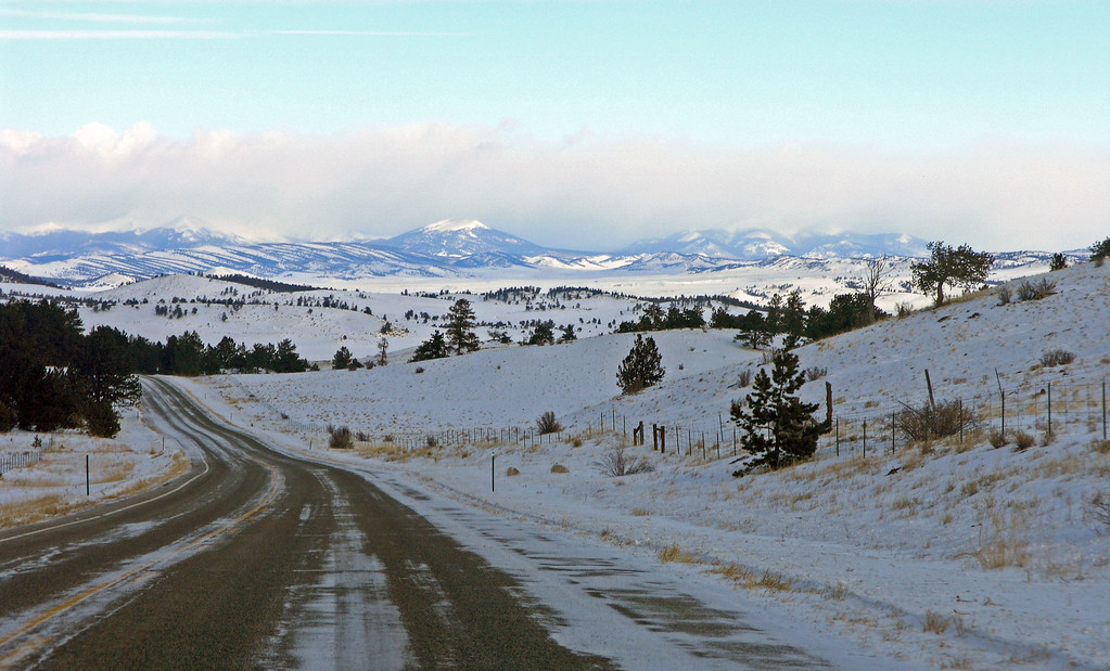Dec 20.  Driving north on highway 9 toward the mountains and Breckenridge.