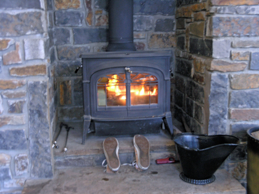 Dec 20.  One of the first things Aaron did is build a fire.  Those are his tennis shoes drying.