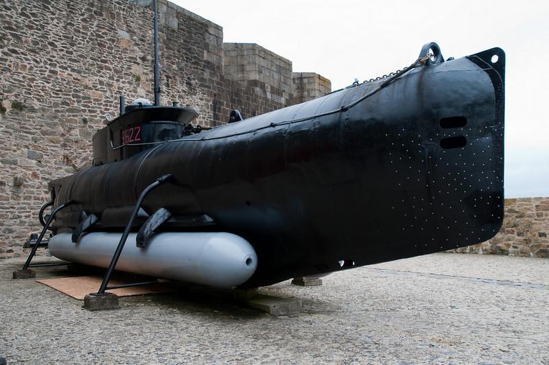 Sous-marin allemand, seconde guerre mondiale, Brest, musŽe de la marine