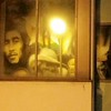 Ghosts of legends looking through the windows.<br /> Reflection in the office building opposite the Prince Albert mural.