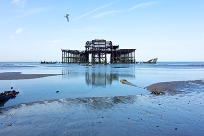 Brighton's West Pier in the early morning light