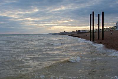 Looking towards Hove on Brighton beach