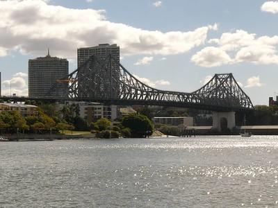 Brisbane river bridge. Shot with FZ10 from a moving catamaran. No image manipulation (yet).