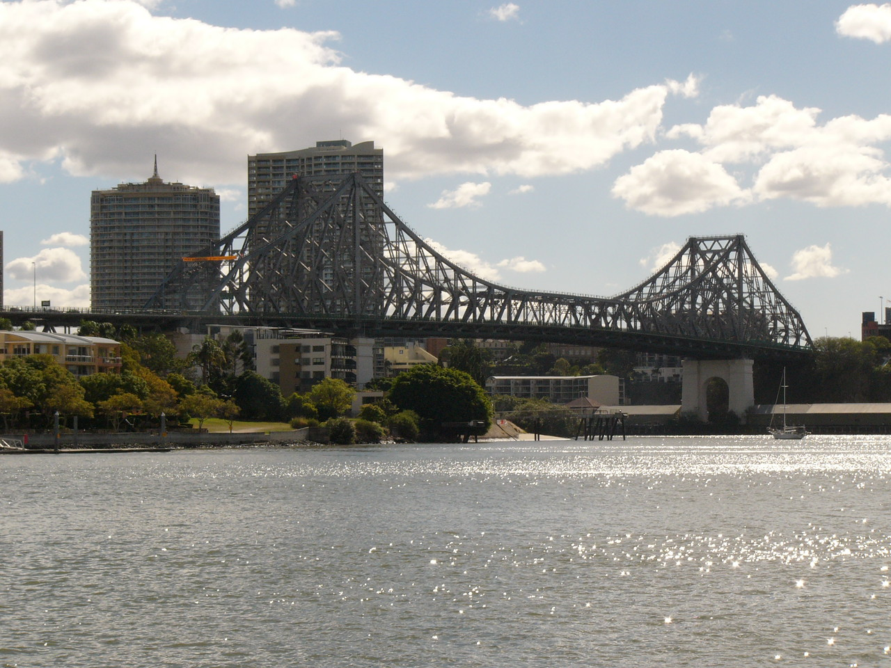 Brisbane river bridge. Shot with FZ10 from a moving catamaran. No image manipulation (yet).