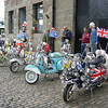 June 2009. A convention of moped owners, Bristol Docks.
