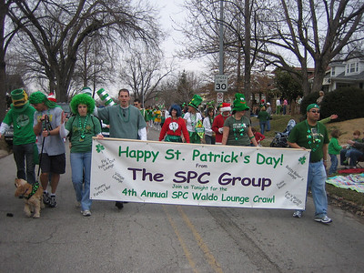 On the last leg of the parade, we were out of giveaway supplies and energy!  (That doesn't stop us from going on to the Waldo Lounge Crawl later in the evening).