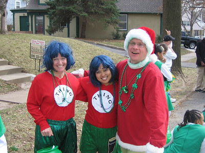 Beth, Jackie, and Dave suit up as Dr. Suess characters with an Irish twist.  Dave proved to be popular as the Grinch.  People kept asking to take his photo.