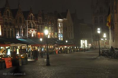 Brugge in de mist