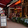 There are lots of little restaurants around Grand Place, all with the same menu and high prices.