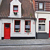 Typical quaint houses in Bruges.