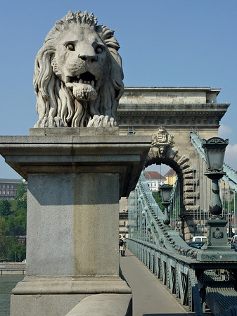 One of the Chain Bridge's scary looking lions