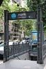 Buenos Aires - Avenida de Mayo Street - Metro Entrance
