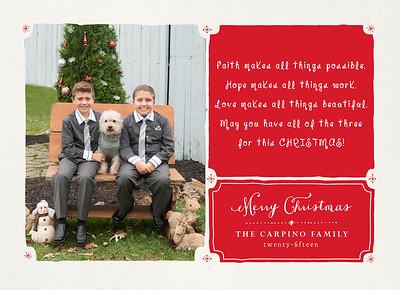 CARPINO FAMILY Holiday Card