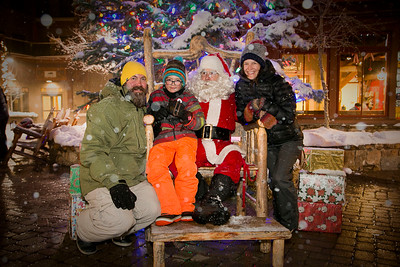 Crested Butte Chamber presents Light Up Night with Santa at Mount Crested Butte, Colorado on Saturday, Dec. 10, 2016.  (Photo/Nathan Bilow)