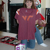 Brooke and her Virginia Tech. jersey.