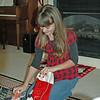 Brooke checking her stocking.