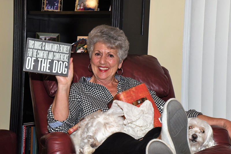 Linda takes good care of Gus & Merry...