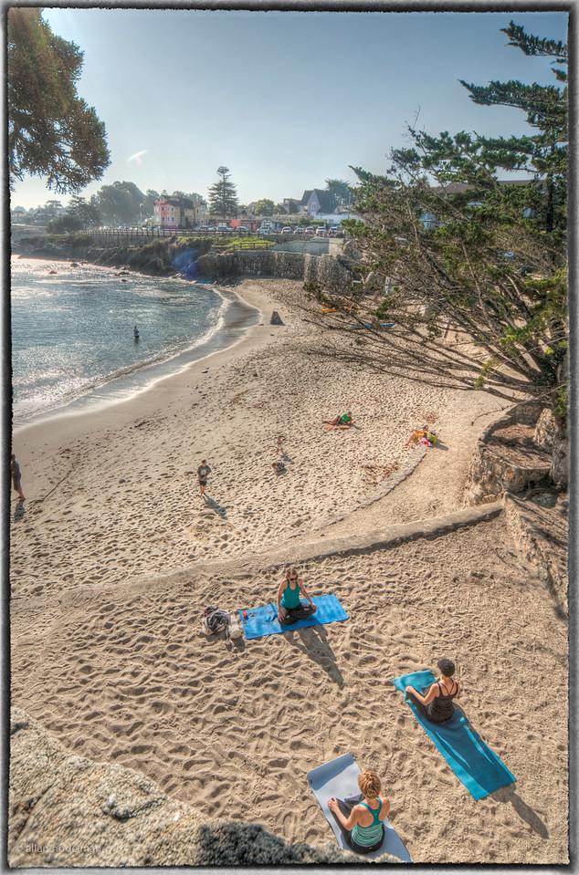 Early Morning Beach Yoga Monterey