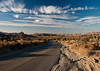 evening desert road